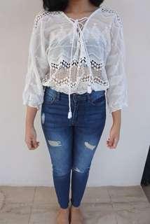 White Boho Lace