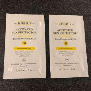 Kiehl's activated sun protector spf50