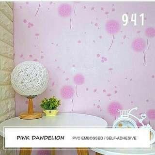 Wallpaper Sticker Motif Dandelion Pink