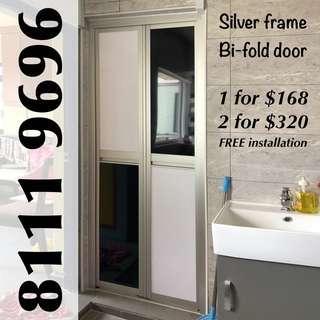 Aluminium Bifold Door for toilet bathroom storeroom kitchen