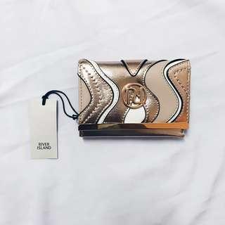 [NEW] River Island Rose Gold Mini Clip Top Purse #UNDER90