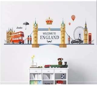 Wall Sticker / Stiker Dinding motif England Bridge