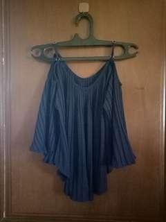 Navy Blue Off Shoulder / Sabrina