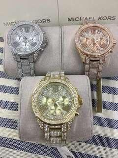 Michael Kors Studded Diamond Wrist Watch