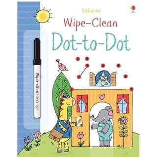 🚚 (BN) Usborne: Wipe-Clean Dot-to-dot