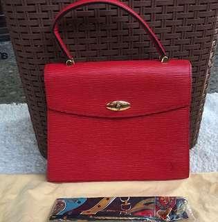 💎Louis Vuitton Malesherbes Red Epi Kelly Handbag💎