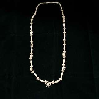 Vintage Ivory Long Necklace with Carvings