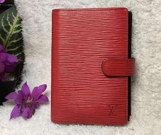 💎Louis Vuitton Red Epi Passport Holder and Planner💎