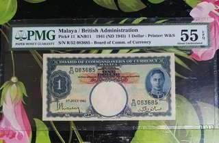 $1 MALAYA KGVI 1941