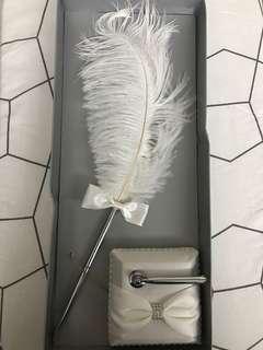 證婚用 羽毛筆 連筆座