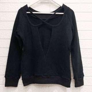 🚚 專櫃品牌 後背簍空交叉針織長袖毛衣