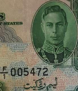 $5 MALAYA KGVI 1941