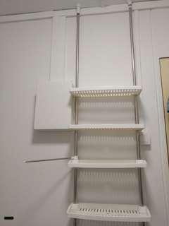 4 layer pole rack / storage shelf