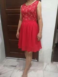 Dinner Red Dress(for mom)