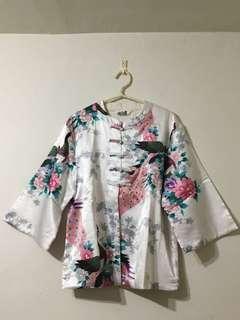 🚚 【全新】孔雀印花 中國風外套#十月女裝半價