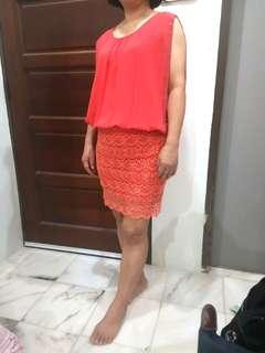 Dinner dress(peach) (for mom)