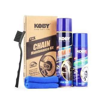 Motorcycle Chain maintenance kit koby chain cleaner