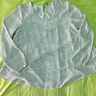 Blouse kotak / zara blouse