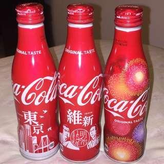 可單買 $45/一套三枝 日本特別版 可口可樂 鋁瓶 東京 煙花 維新