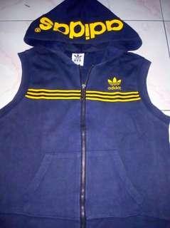 Adidas Vest Hoodie Zipper Original NAVY M kecil