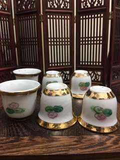 Vintage Chinese small cup (50-60s) handpaint