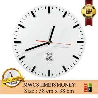 Jam Dinding MWCS TIME IS MONEY – Jam Modern Unik