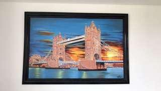 Tower Bridge of London Acrylic painting