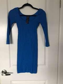 Bebe Royal Blue Bodycon Dress