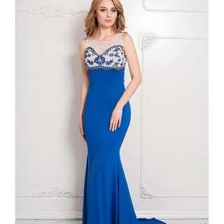 CELLY Plus Size Tulle Slim Girl Prom Dresses (CSOH R80086P)