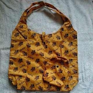 Jackie Bear Foldable Shopping Tote Bag