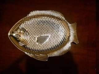 🐠🐟超靚高級 Georg Jensen Lalique Glastique stainless steel plate 生果碟 零食碟 食物碟 high tea 魚生 seafood snack sashimi 首飾碟 accessory 煙灰缸 ashtray