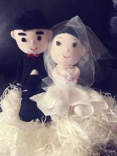 https://www.facebook.com/TJ-Bridal-Occasion-Wear--1379476812101225/  全人手勾織肖像花車結婚公仔 可以結婚禮物🎁