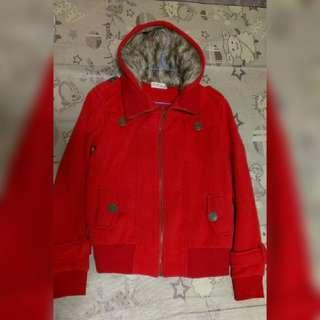 🚚 紅毛帽 外套(F碼)