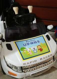 🚚 Rapid Racer兒童白色電動車