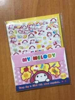 Sanrio My Melody 信封信紙貼紙套裝