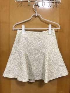 全新31 sons de mode質感豹紋短裙 Beige skirt
