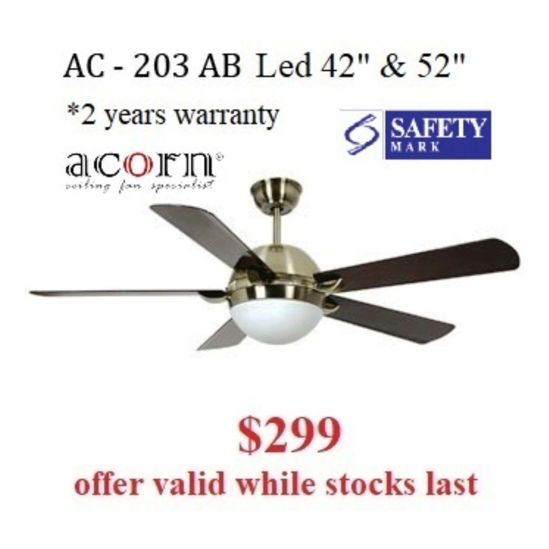 Acorn Ac 203 Ceiling Fan Ceiling Fan Ceiling Fan With Light Dc Ceiling Fan Ceiling Fan Installation Led Light Led Lighting Home Appliances Cooling Air Care On Carousell