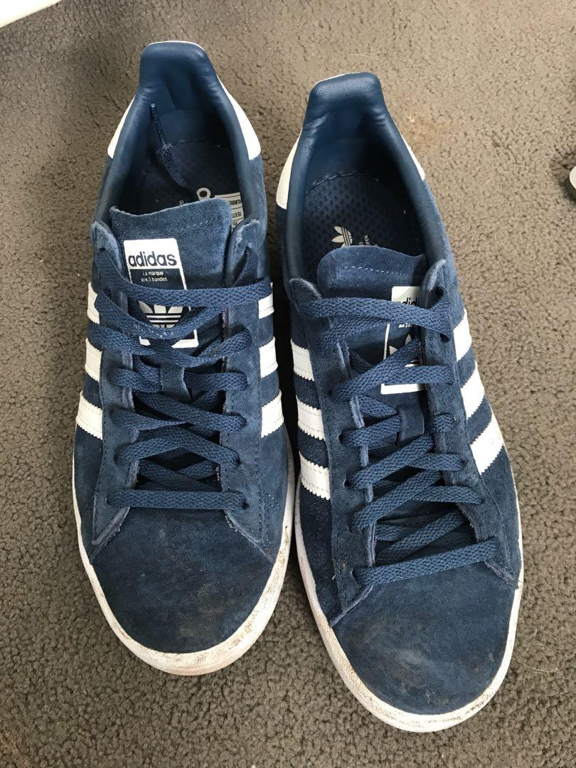 meilleur pas cher fb66d d7348 Adidas Campus Navy, Women's Fashion, Shoes on Carousell