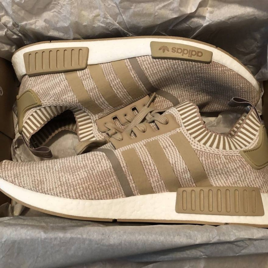 bb1947346 ADIDAS New NMD R1 PK Primeknit Shoes BY1912 Nomad Linen