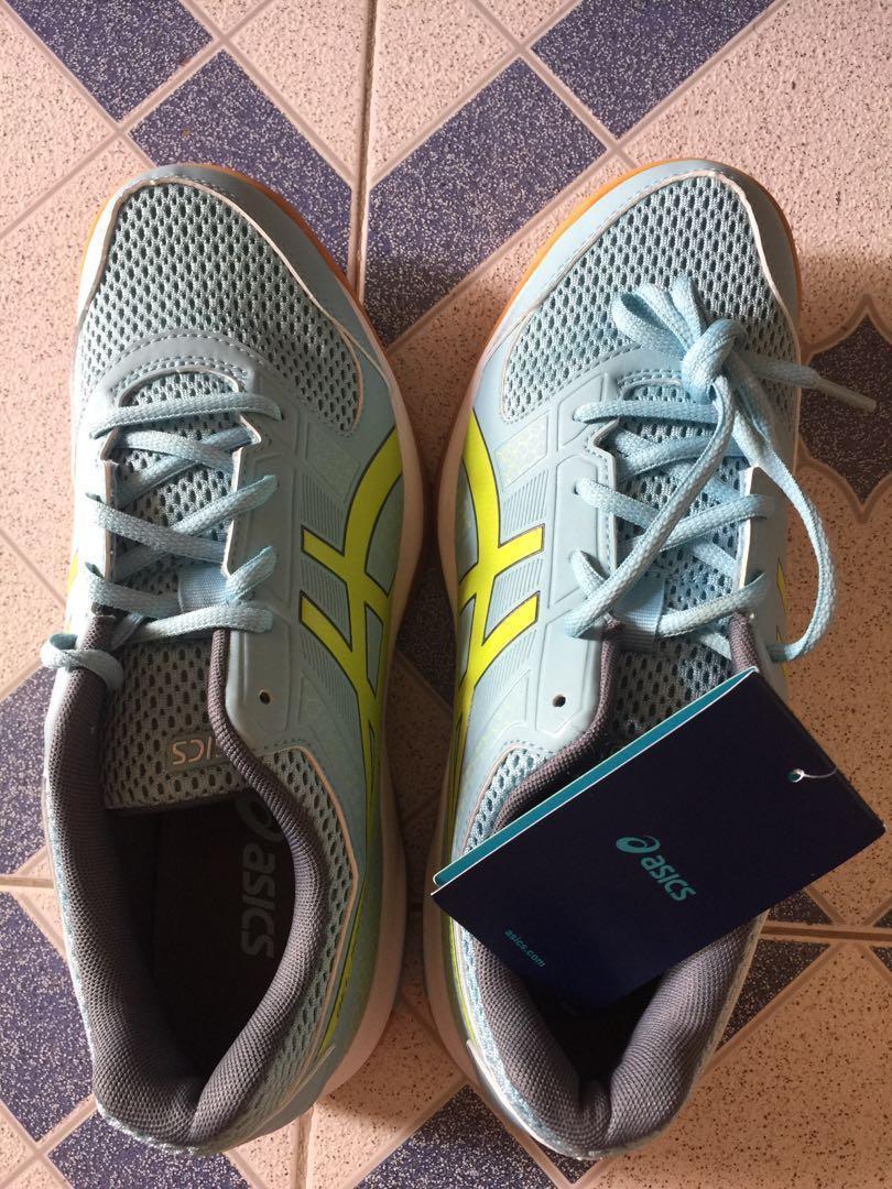 ASICS 羽毛球鞋全新粉藍