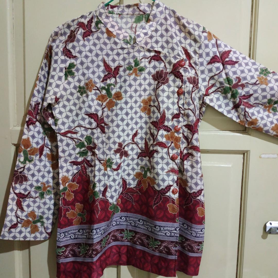 Atasan Batik Model Kimono Jahit Sendiri
