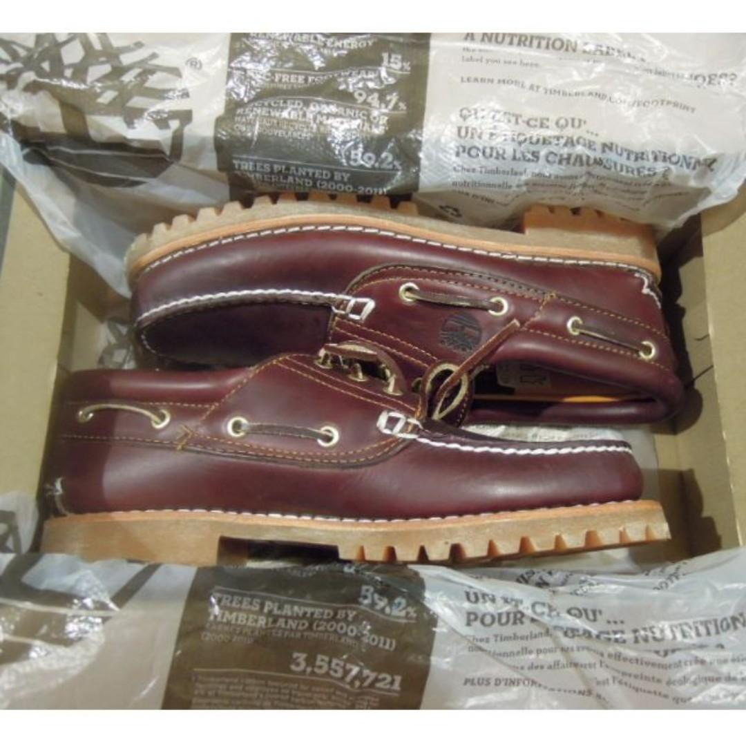 AUTHENTIC Timberland Men's leather boat shoes icon 3 Three