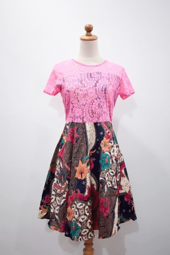 1b40b936ee06b Babydoll batik dress pink lace womens fashion clothes dresses skirts on  carousell jpg 720x1080 Babydoll batik