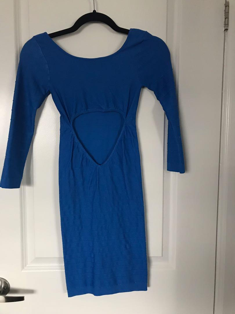 Bebe Royal Blue Bodycon Dress