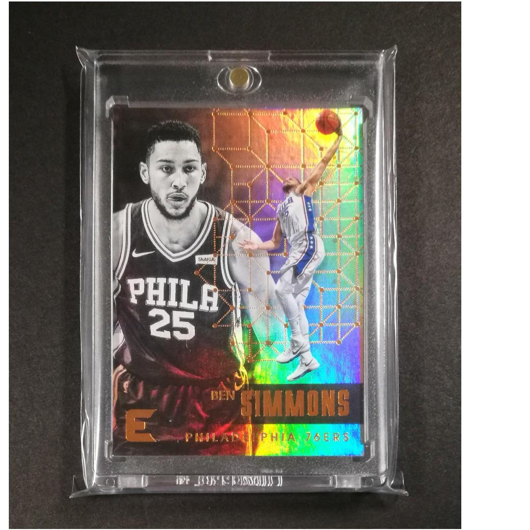 Ben Simmons Refractor Basketball Card Rookie Of The Year
