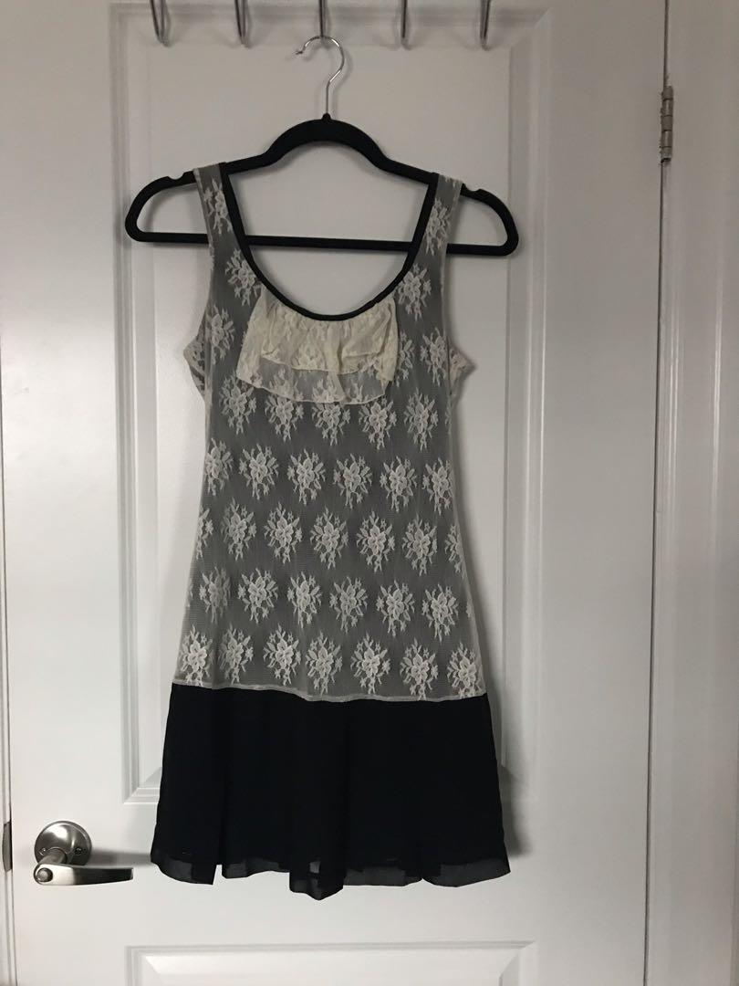 Black and White Lace Dress