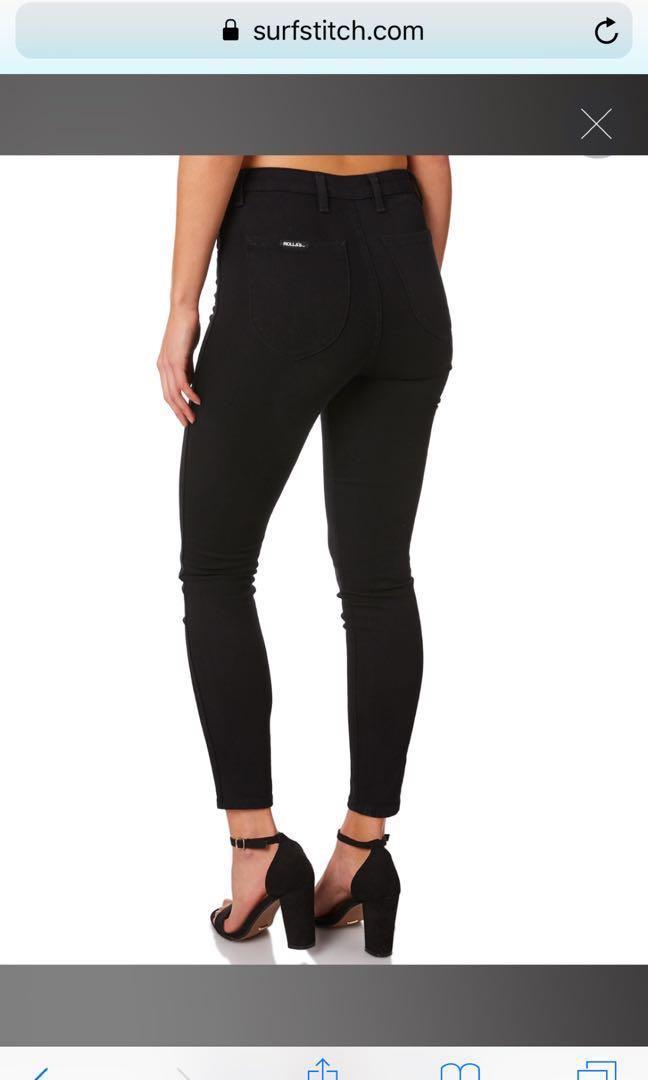 Black ROLLAS eastcoast high waisted skinny jeans