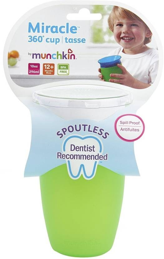 Munchkin Miracle 360 Sippy Cup 296ml Green Baby Feeding Bn Cups, Dishes & Utensils