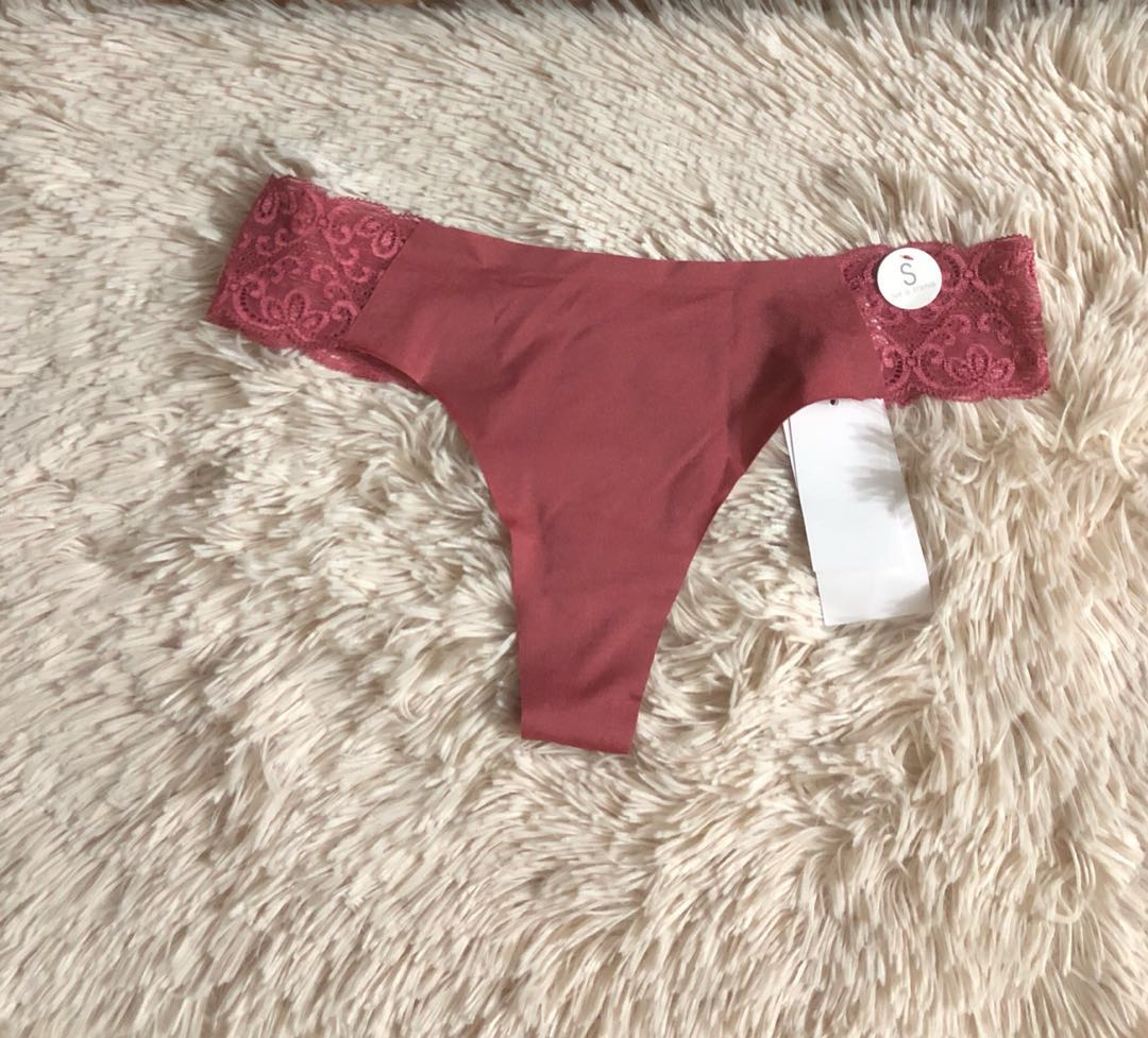 61cf1dfaa3 BNWT Cotton On Seamless lace thongs in pink