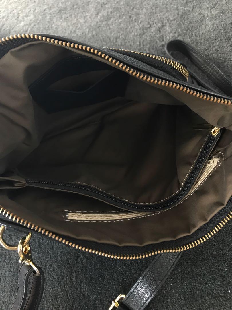 Daniela Moda Leather Black Bag